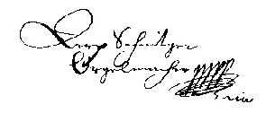 Signature of Arp Schnitger