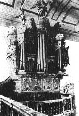 The organ in Faro before restoration