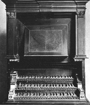 Original console of the organ at the St. Annen-museum in Lübeck