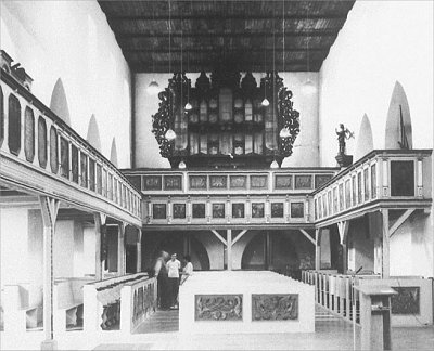 The empty case of the Schnitger-organ in Wegeleben